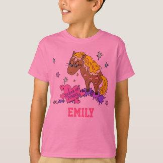 Camiseta Pônei personalizado (seu nome aqui)