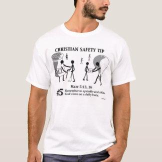 Camiseta Ponta cristã #15 da segurança: 5:13,16 de Matt