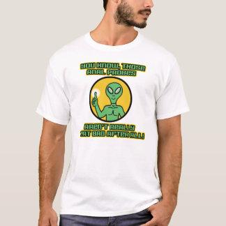 Camiseta Ponta de prova anal estrangeira