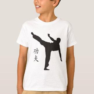 Camiseta Pontapé/Kanji altos de Kung Fu