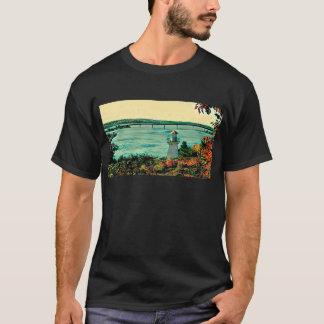 Camiseta Ponte da ilha de St Joseph das luzes de escala