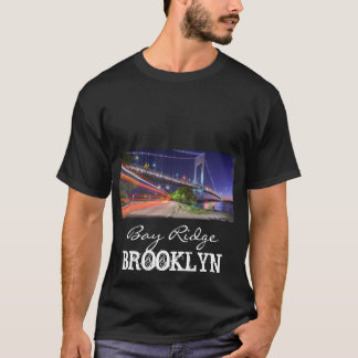 Camiseta Ponte de Verrazano na baía Ridge Brooklyn NYC da