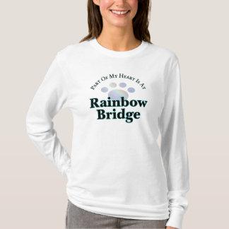 Camiseta Ponte do arco-íris com o T longo da luva da pata
