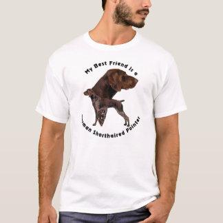 Camiseta Ponteiro de cabelos curtos alemão do melhor amigo