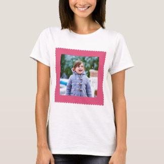 Camiseta Pontos do rosa do quadro da beira da foto