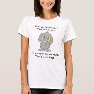 Camiseta Poopy Buhda eu mastigo o material