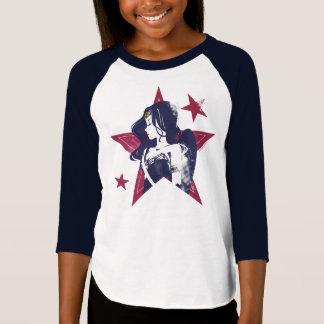Camiseta Pop art da mulher maravilha & das estrelas da liga