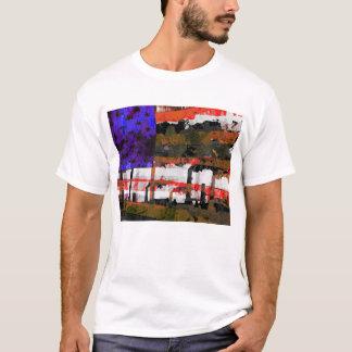 Camiseta Pop art da poluição da bandeira americana