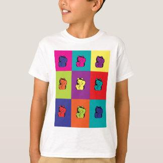 Camiseta Pop art do gatinho de Maneki Neko