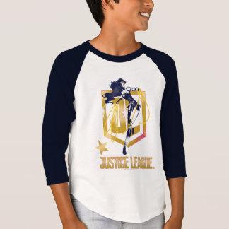 Camiseta Pop art do logotipo da mulher maravilha JL da liga