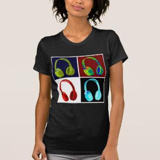 Camiseta Pop art dos fones de ouvido