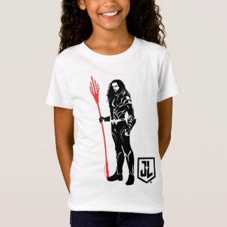 Camiseta Pop art Noir da pose da liga de justiça | Aquaman