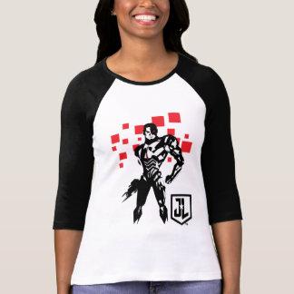 Camiseta Pop art Noir de Digitas do Cyborg da liga de