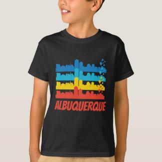Camiseta Pop art retro da skyline de Albuquerque nanômetro