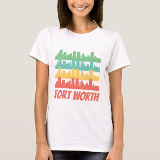 Camiseta Pop art retro da skyline de Fort Worth TX