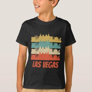 Camiseta Pop art retro da skyline de Las Vegas nanovolt