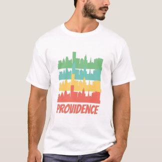 Camiseta Pop art retro da skyline do providência RI