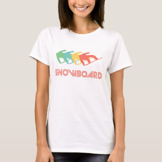 Camiseta Pop art retro da snowboarding