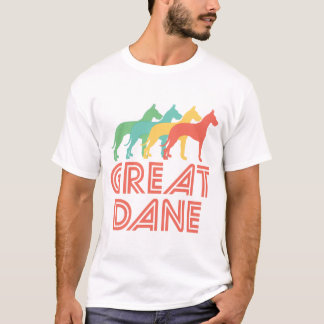 Camiseta Pop art retro de great dane