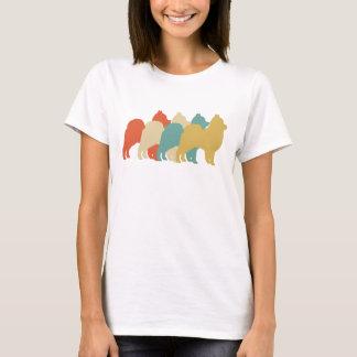 Camiseta Pop art retro de Pomeranian