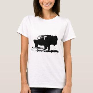 Camiseta Pop art Running do bisonte do búfalo