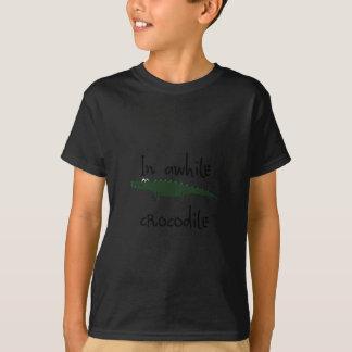 Camiseta por algum tempo no crocodilo