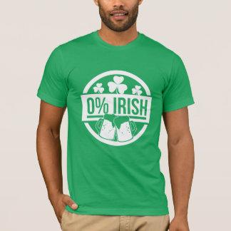 Camiseta Por cento zero do irlandês