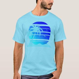 Camiseta Por do sol azul