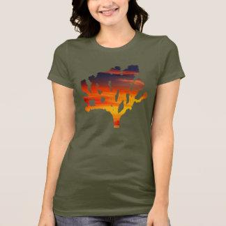 Camiseta Por do sol da árvore de Joshua