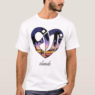 Camiseta Por do sol da ilha de Fiji