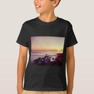 Camiseta Por do sol da praia de Fistral