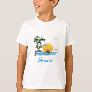 Camiseta Por do sol da praia de Havaí