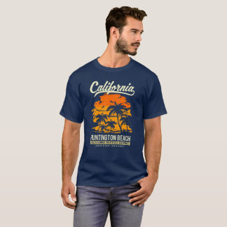 Camiseta Por do sol de Huntington Beach Califórnia