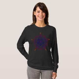 Camiseta Por do sol decorativo do Pentacle
