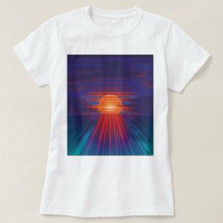 Camiseta Por do sol do código de barras