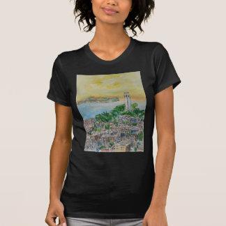 Camiseta Por do sol do crepúsculo de San Francisco sobre a