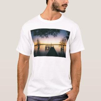 Camiseta Por do sol do reservatório de Steinhagen