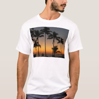 Camiseta Por do sol havaiano