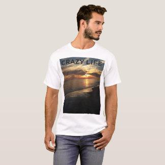 Camiseta Por do sol LOUCO do oceano do t-shirt dos homens