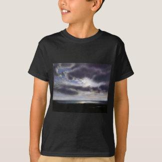 Camiseta Por do sol sobre o lago