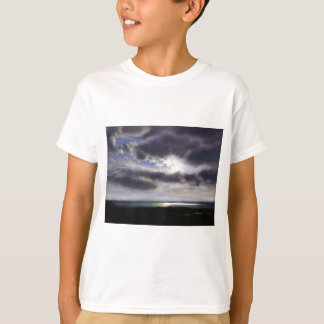 Camiseta Por do sol sobre o lago