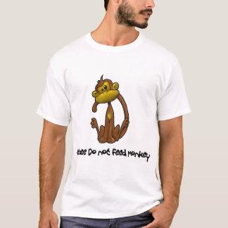 Camiseta Por favor não alimente o macaco