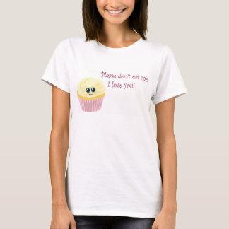 Camiseta Por favor não coma o cupcake