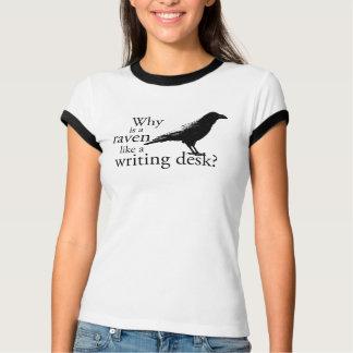 Camiseta Por que é um corvo como uma mesa de escrita?