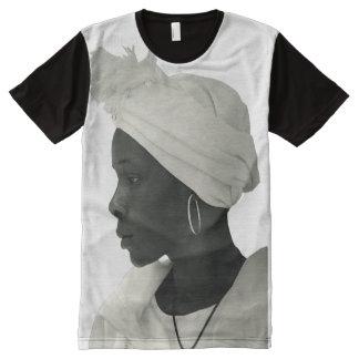 Camiseta Com Impressão Frontal Completa Camiseta por todo o lado no blanc da menina do