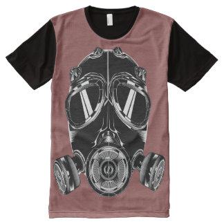 Camiseta Com Impressão Frontal Completa Camiseta por todo o lado no bordeau da máscara