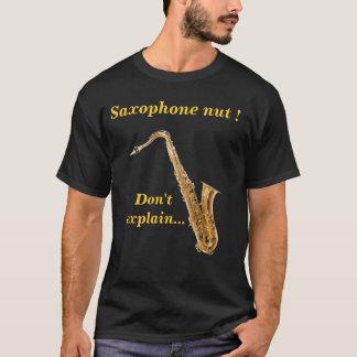 Camiseta Porca do saxofone - não explique