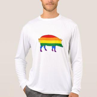 Camiseta Porco do arco-íris