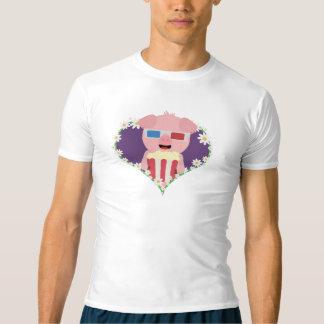 Camiseta Porco do cinema com coração Zvf1w da flor