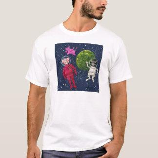 Camiseta Porco, guaxinim e elefante cor-de-rosa